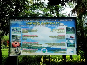 Information board of the attractions
