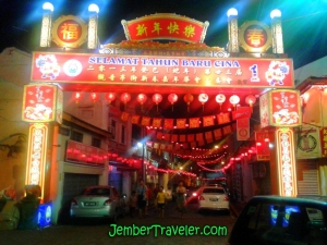 Hiasan Kota saat Hari Raya Tahun Baru China