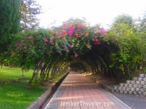 Salah satu sudut jalan di Taman Tasik Titiwangsa