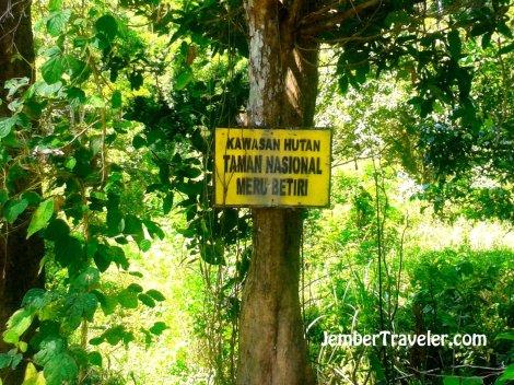 Kawasan Taman Nasional Meru Betiri