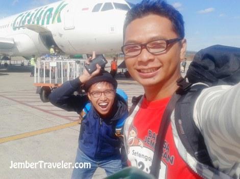 Kami sampai di Kupang dengan pesawat dari Citilink