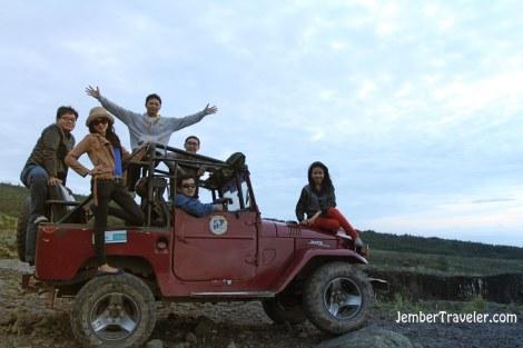 Jeep yang kami kendarai